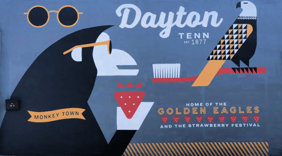 Monkeying Around in Dayton, Tennessee - Loving-Living-Green