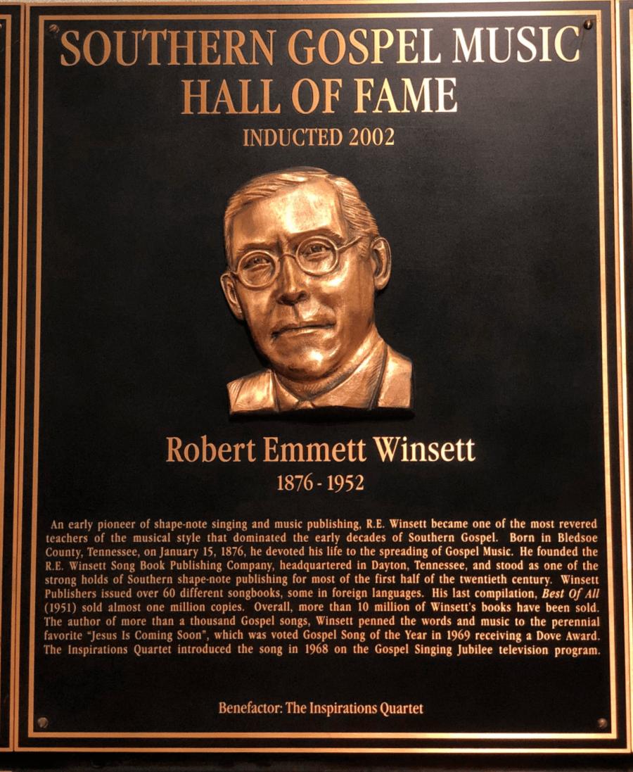 RE Winsett Southern Gospel Hall of Fame