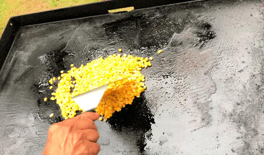 Corn on the blackstone