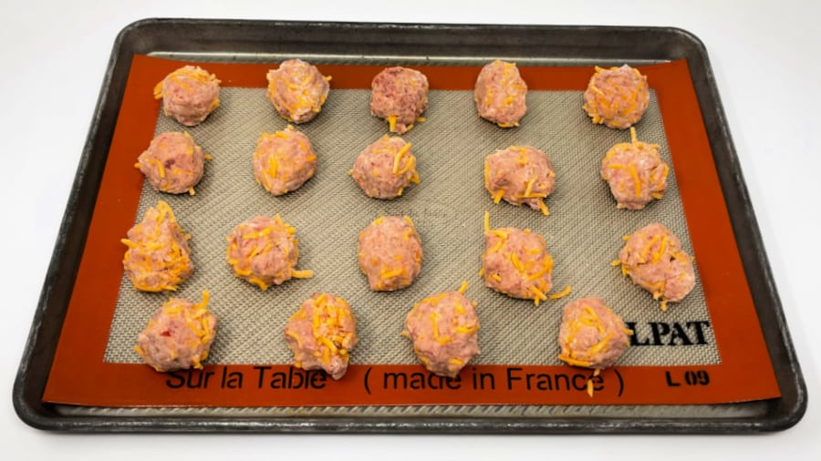 Rolled Balls for sausage ball recipe