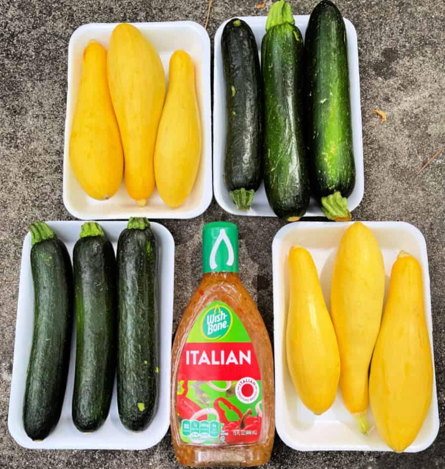 Squash and Zucchini Ingredients