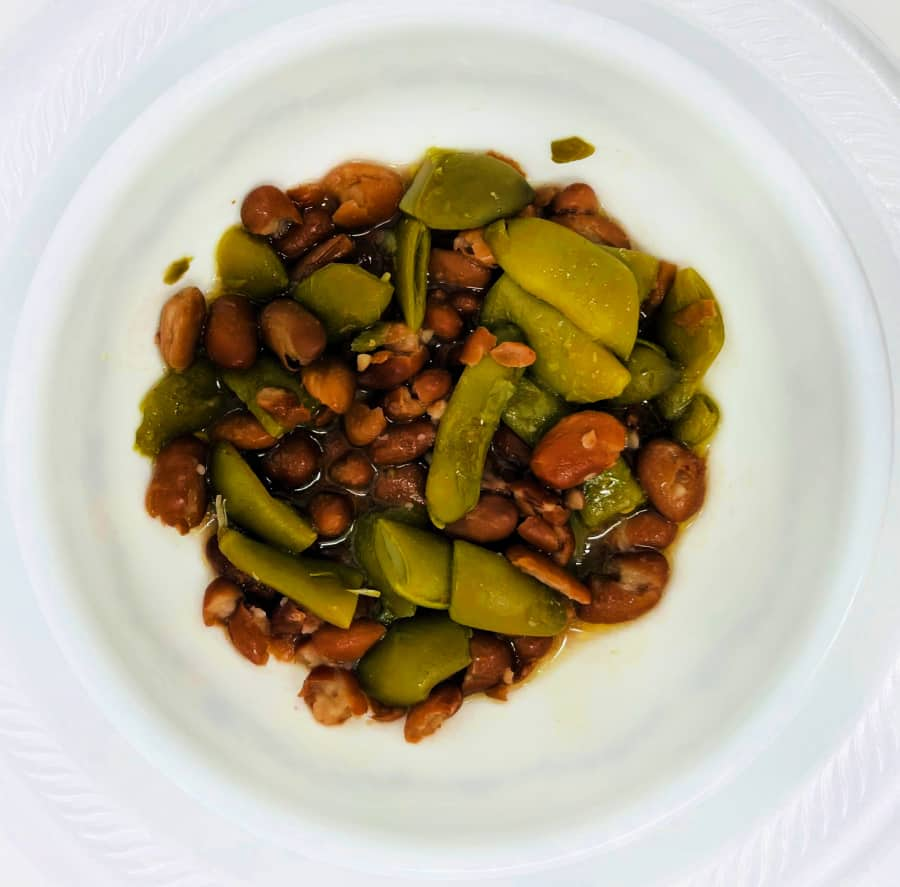 pintos and green beans- foods of our grandparents