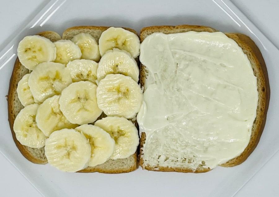 banana and mayonnaise sandwich