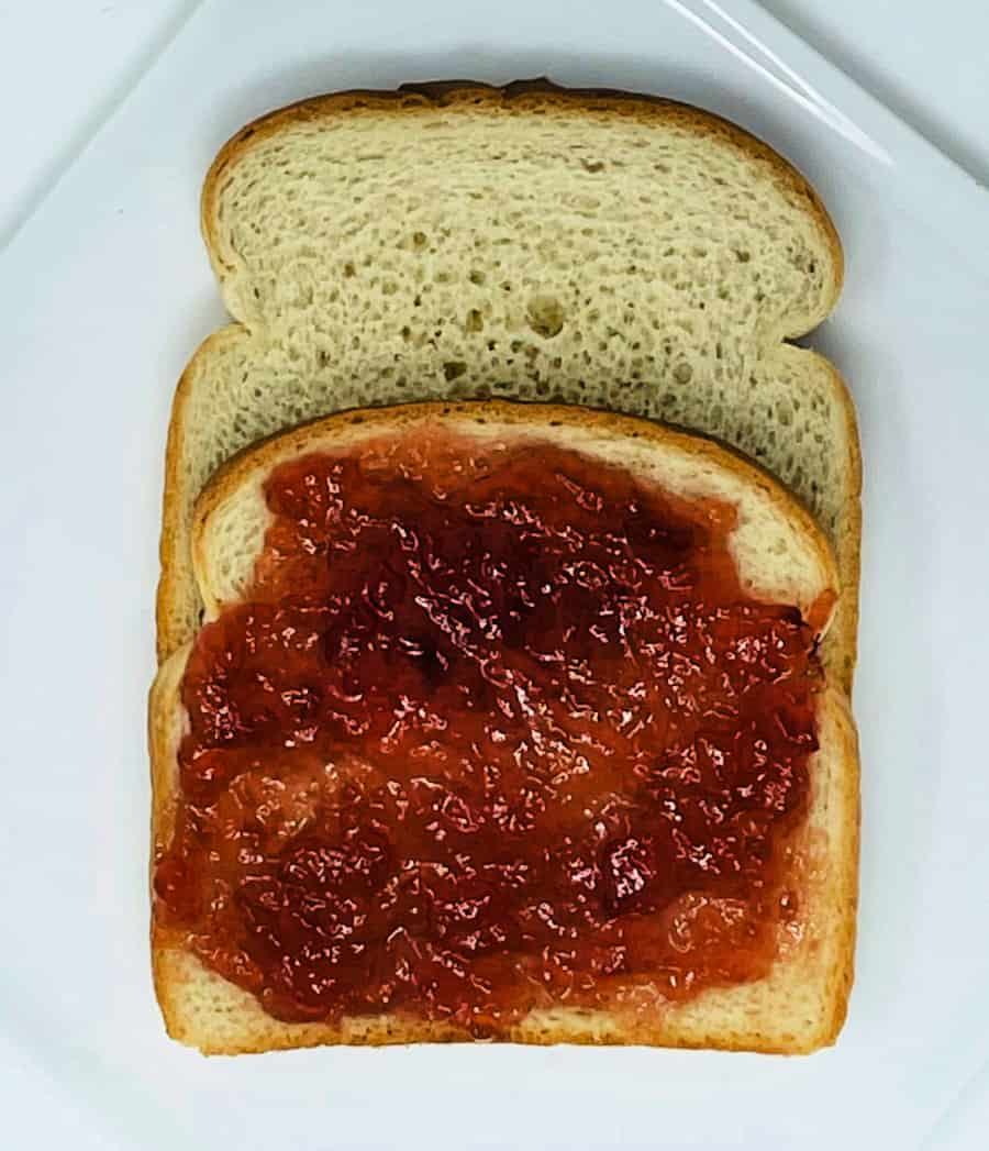 muscadine jelly sandwich- foods of our grandparents