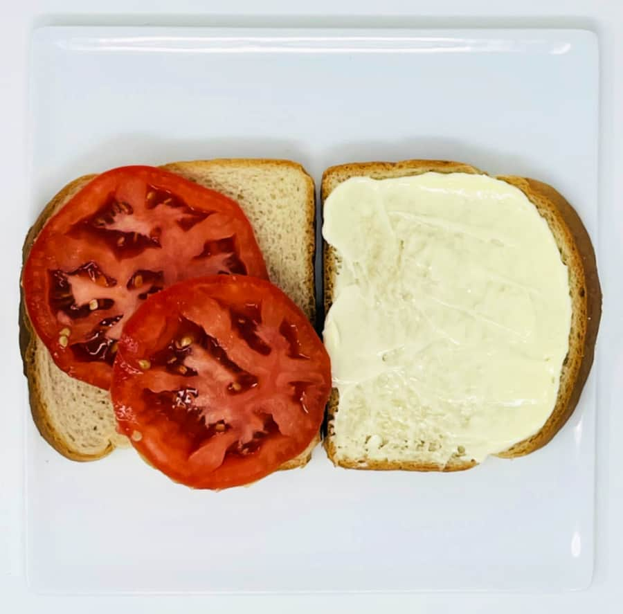 tomato sandwich- foods of our grandparents